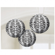 Zebra Stripes Animal Print Paper Lanterns