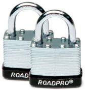 Roadpro RPLS-40-2 1.5Steel Lam Padlock Pr Keyed Alike