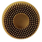 3M 7525 5.1cm Scotch-Brite Roloc Bristle Discs 80 Grit Medium Yellow
