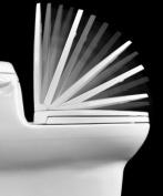 Centoco 1400SC-001 White Luxury Safety Close Toilet Seat