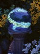 Echo Valley 8140 25cm Glow-in-the-Dark Illuminarie Glass Gazing Globe, Light Blue Swirl