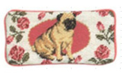 123 Creations C272EG Pug petit-point eyeglass case