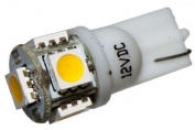 5 LED 12V Warm White Wedge Bulb - 360