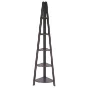Espresso 180cm H Corner Ladder Bookcase