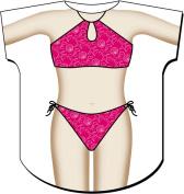 L.A. Imprints 4545 Hot Pink Kids Cover Up