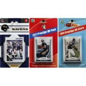 C & I Collectables 2011RAVENTSC NFL Baltimore Ravens Licenced 2011 Score Team Set With Twelve Card 2011 Prestige All-Star and Quarterback Set