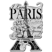 Stampendous CRP144 Stampendous Cling Rubber Stamp-I Love Paris