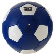 Tachikara SM4SC.RYW Man-Made Leather Soccer Ball - Size 4 - Royal-White