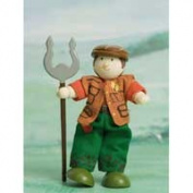 Le Toy Van BK929 New Budkins Bendy Wooden Doll Farmer