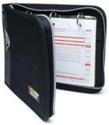 RoadPro LB-001BK 3-Ring Binder for Loose-Leaf Log Sheets - Black Zippered 10.5 x 8.5