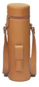 Picnic Gift 4005-BR Enclave Leather Wine Tote Single Bottle Carrier - Brown