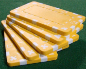 Brybelly Holdings PCB-2110 5 Yellow Rectangular Poker Chips