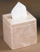 EVCO International 74733 Champagne Marble Notch Tissue Box Holder