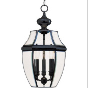 Maxim Lighting 6095CLBK South Park 3-Light Outdoor Hanging Lantern - Black