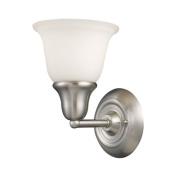 Landmark Lighting 67020-1 Berwick 1-Lt Bath Bar Brushed Nickel White Glass