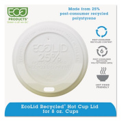 Eco-Lid 25% Recycled Content Hot Cup Lid, Fits 8oz Cups, 1000/Carton
