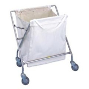 R & B Wire 652C Collapsible Laundry Hamper Frame with Canvas Bag - Chrome