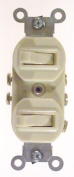 Leviton Mfg R61-05241-IKS Commercial Grade 3-Way AC Combination Switch Toggle