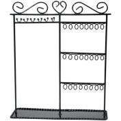 Darice 2025-418 Metal Jewelry Display Shelf 12 in. x 3.5 in. x 14 in. - Black