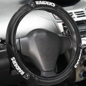 Fremont Die 023245966047 NFL Raiders Massage Grip Steering Wheel Cover- NFL