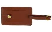 Royce Leather 951-TAN-6 Snap Luggage Tag - Tan