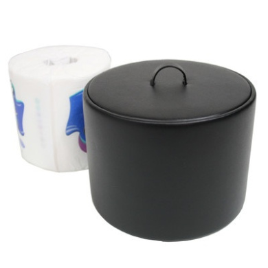Royce Leather 789-6 Toilet Tissue Paper Cover Black