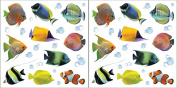 Crearreda CR-54253 Fishes Wall Stickers Pack of 2