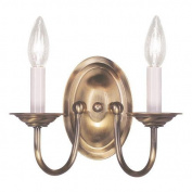 Livex Lighting 4152-01 Wall Sconces, Indoor Lighting, Antique Brass
