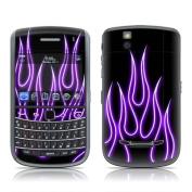 DecalGirl B965-NFLAMES-PRP BlackBerry Bold 9650 Skin - Purple Neon Flames