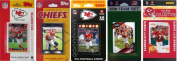 C & I Collectables CHIEFS5TS NFL Kansas City Chiefs 5 Different Licenced Trading Card Team Sets