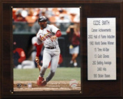 C & I Collectables 35930mlZIEST MLB Ozzie Smith St. Louis Cardinals Career Stat Plaque