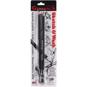 General Pencil 451111 Sketch& Wash Pencils 2-Pkg