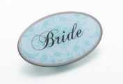 Lillian Rose JL620 BR Aqua Oval Bride Pin