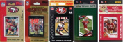 C & I Collectables 49ERS5TS NFL San Francisco 49ers 5 Different Licenced Trading Card Team Sets