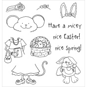 Stampers Anonymous 11094SC Inky Antics Clear Stamp Set-Easter Millie