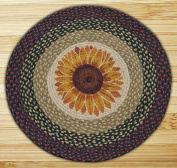 Capitol Importing 66-919S Sunflower - 27 in. x 27 in. Round Patch