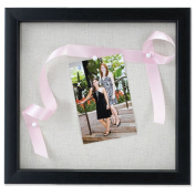 Lawrence Frames 168012 Lawrence Frames 12x12 Black Shadow Box Frame - Linen Inner Display Board