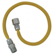 Plumb Shop Brasscraft 121.9cm . Stainless Steel Gas Dryer Connector CSSL54-48P