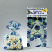 Rite Lite 10411 Chanukah Cellophane Party Bags with Twist Ties - Pack of 12