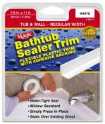 Homax .223.5cm . White Tub & Wall Bathtub Sealer Trim MC156T