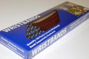 Medtech Wristbands P035004060B0100 100 Plastic .190cm . x 25cm . S W Sparkle Red
