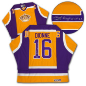AJ Sports World DIOM112000 MARCEL DIONNE Los Angeles Kings SIGNED Retro Hockey JERSEY