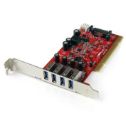 4 Port PCI SuperSpeed USB 3.0 Adapter Card with SATA/SP4 Power