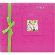 Embossed Post Bound Album 30cm x 30cm -Pink