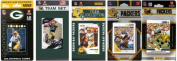 C & I Collectables PACKERS512TS NFL Green Bay Packers 5 Different Licenced Trading Card Team Sets
