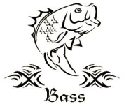 Western Recreation Ind 5225 Bass Decal 5X6