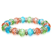Alexander Kalifano BLUE-BGG-03 Gorgeous Glass Bracelet - Multi-Coloured