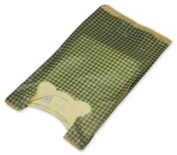 Bags & Bows by Deluxe 17-GING20 Green Gingham High Density T-Shirt Bags - Case of 1000