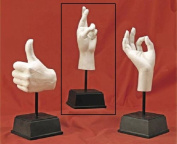 TMS H236-WHT Hand Sculpture - Fingers Crossed