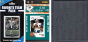 C & I Collectables 2010DOLPHINSTSC NFL Miami Dolphins Licenced 2010 Score Team Set and Favourite Player Trading Card Pack Plus Storage Album